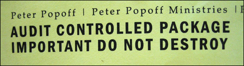 Popoff Audit Letter